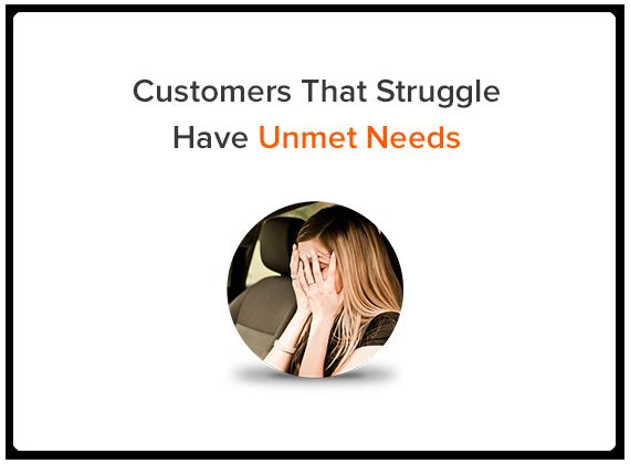unmet needs customer struggle
