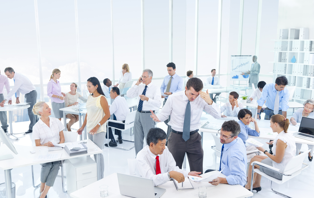 large, busy organization with many teams working together