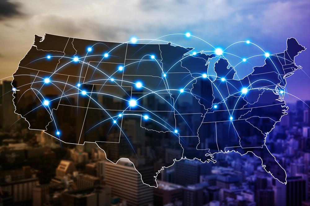 USA nationwide telecom network